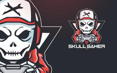Sjabloon met logo voor schedel Gamer