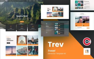 Trev-旅行元素套件模板