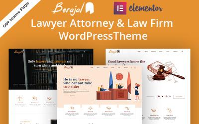 Beraja l- Адвокат і адвокатська фірма WordPress тема