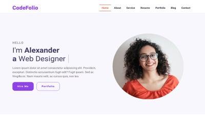 CodeFolio - Bootstrap 5 Responsive Portfolio Landing Page