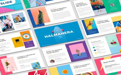 Halmahera - Plantilla de PowerPoint de negocios creativos y arte pop