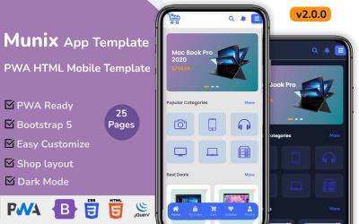 Munix - Modello HTML mobile multiuso per l'e-commerce