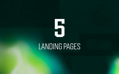 5 víceúčelových vstupních stránek, šablony PSD záhlaví hrdinů