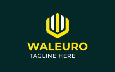 W E logo template