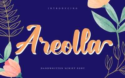 Areolla | Handwritten Cursive Font