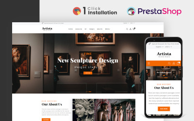 Artista - Тема PrestaShop Store для художньої галереї