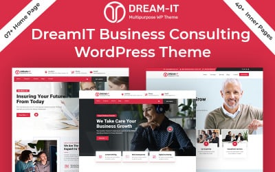 DreamIT - Business  Consulting Service WordPress Theme