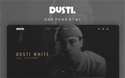 Dusti - Portfolio Multipurpose Modern Landing Page Template