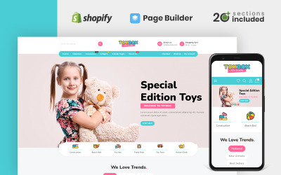 Toybox Clothing & Toys Store Shopify Theme