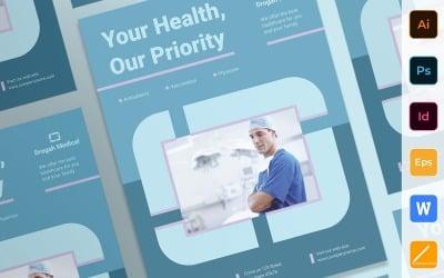 Modèle d'identité d'entreprise d'affiche de clinique professionnelle