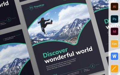 Profesionální prohlídky a cestování plakát firemní identita šablony
