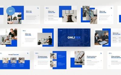 Onlitek Startup And Technology Business Keynote Template