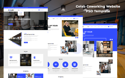 Colab - Coworking Website PSD Template