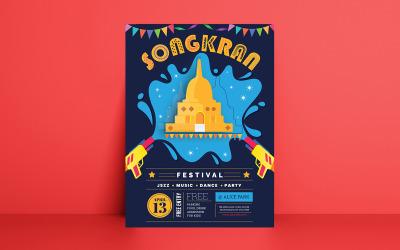 Songkran Festival Flyer Corporate Identity Template