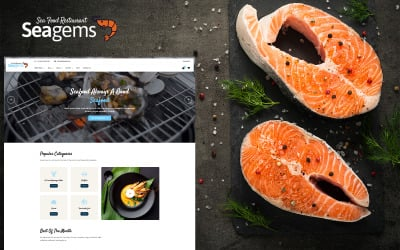 Seagems - Sea Food Blog HTML Template