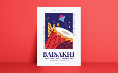 Baisakthi Festival Flyer Corporate Identity Template