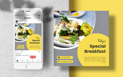 Food Social Media Template Instagram Post