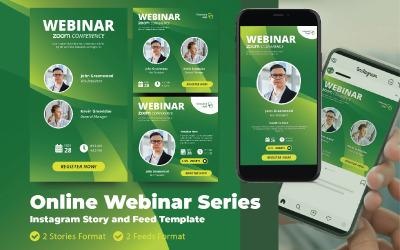Online Webinar Live Zoom Social Media Template