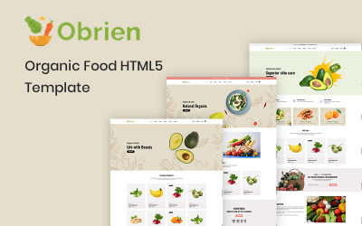 Obrien – Organic Food HTML5 Website Template