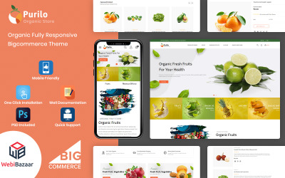 Purilo - Тема харчових та продуктових трафаретів BigCommerce Theme