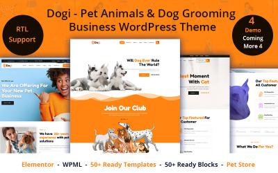 Dogi - Háziállatok és kutyakozmetika üzleti WordPress téma