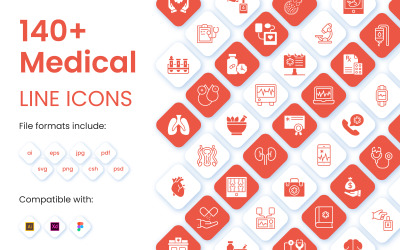 140+ Set of Medical Iconset template