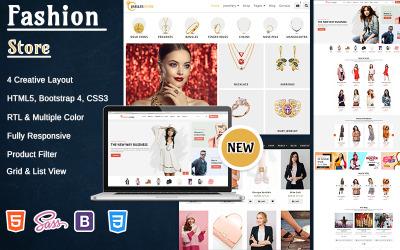 Modèle de site Web HTML 5 de magasin de mode