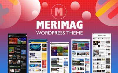Merimag - тема для журнала блогов и новостей Elementor Wordpress