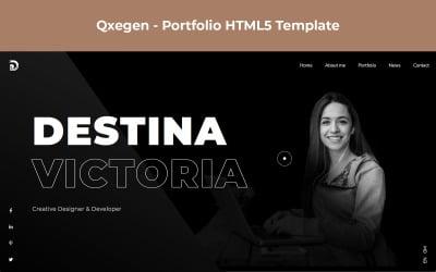 Qxegen - Onepage Personal Portfolio HTML5 Landing Page Template