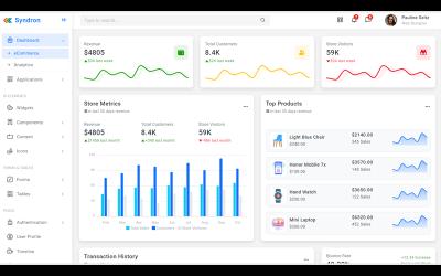 Syndron - Bootstrap5 rendszergazdai sablon