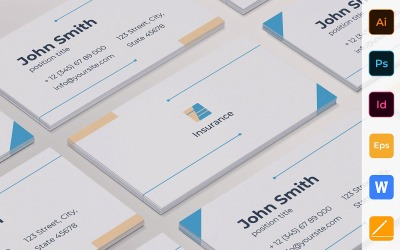 Professional Insurance Agency Business Card Template