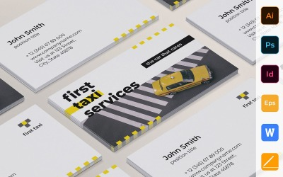Professional Taxi Services Business Card Template