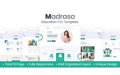 Madrasa - Utbildning PSD-mall