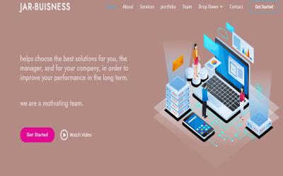 Modello di pagina di destinazione Jar-Business