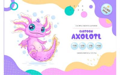 Cute Сartoon Axolotl Vectors