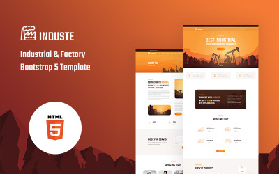 Induste - Industrial And Factory Bootstrap 5 Website Template