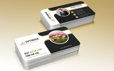 Real Estate Business Card  Corporate identity template