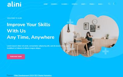 Alini - Tema de WordPress para LMS de aprendizaje electrónico y capacitación