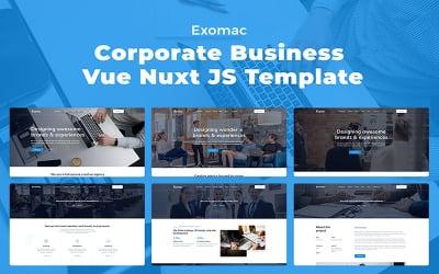 Exomac – Corporate Business Vue Nuxt JS Website Template