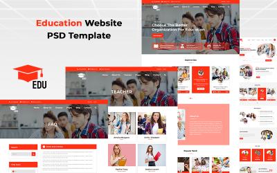 Edu - Modèle PSD de site Web d'éducation
