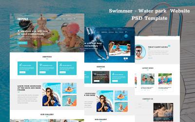 Úszó vízi park weboldala PSD sablon