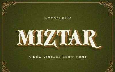 Miztar - Victorian Decorative Font