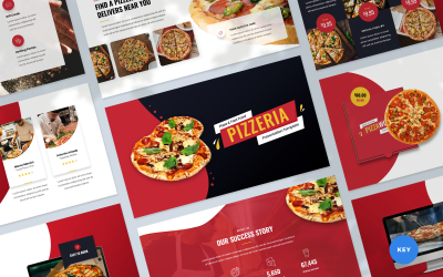 Pizzeria - Pizza and Fast Food Presentation Keynote Template