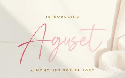 Aguset - Handwritten Font