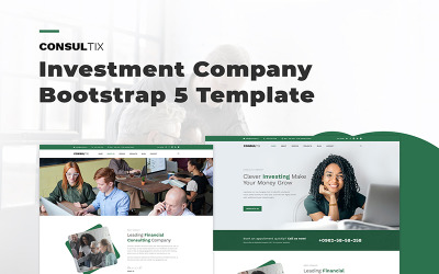 Consultix - Investment Company Bootstrap 5 Website Template