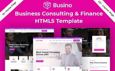 Busino - Business Consulting & Finance HTML5 Template