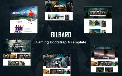 Gilbard - Gaming Bootstrap 4 Website Template