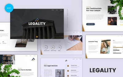 Legality - Legal Service Keynote Template