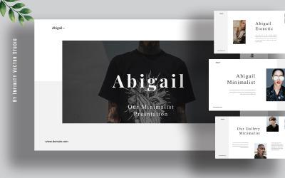 Abigail Minimal Powerpoint template