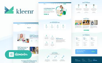 Kleenr - Úklidová společnost Elementor WordPress Woocommerce Theme